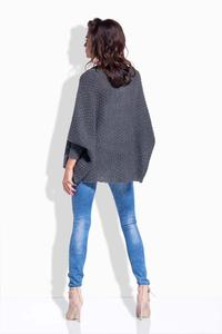 Dark Grey Loose Fall Style Cardigan