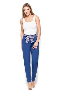 Blue Cigarette Pants with a Bow