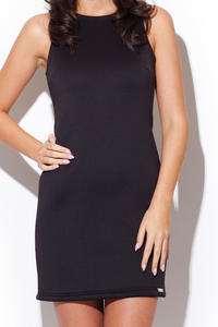 Black Sleeveless Chic Dress with Back Zipper Fastening