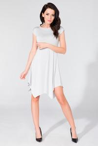 White Summer Asymetrical Dress