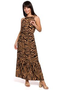 Maxi Dress Leopard Print Sleeveless (camel and black)