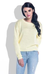 Yellow Open Back Light Sweater