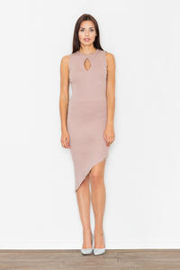 Pink Asymetrical Bodycon Dress