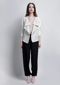 White Unique Style Loose Laps Blazer