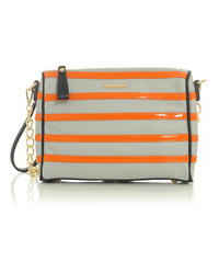 Grey&Orange Stylish Clutch Bag with Chain