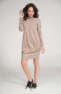 Cappuccino Long Sleeved Casual Dress
