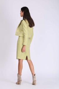 Lime Short Classic Buckle Jacket