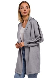 Sweatshirt Jacket with Stripes (Steel)