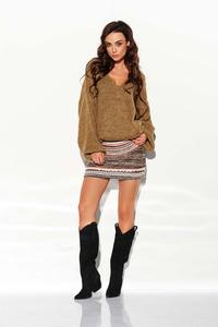 Cappuccino Loose V-neck Sweater
