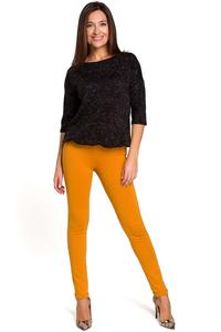 Yellow Elastic Waist Pants