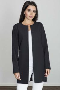 Black Round Neckline Open Ladies Blazer