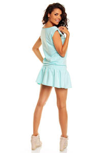 Azure Blue Teen Heart Smock Hip Dress