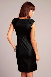 Black Elegant Dress with Stylish Print