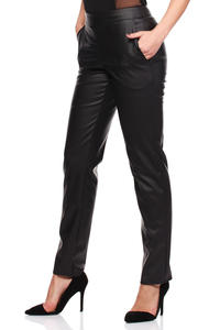 Black Ultra Sleek Chic Straight Pants