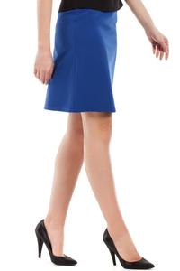 Blue Flared Classic Mini Skirt