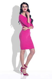 Fuchsia Knitted Bodycon Dress