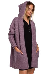 Warm Oversized Sweater with a Hood (heather)