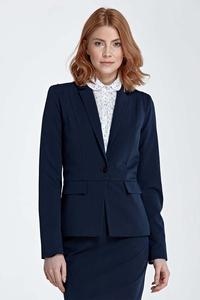 Dark Blue Elegant Classic Ladies Blazer