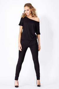 Black Loose Top and Slim Pants Ladies Jumpsuit