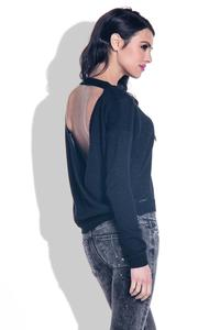 Black Open Back Light Sweater