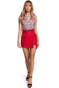 Mini Skirt-Pants Frill (red)