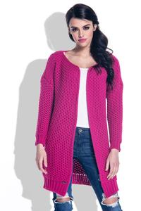 Fuchsia Reglan Sleeves Open Cardigan