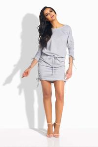 Light Grey Drawstring Sport Style Dress