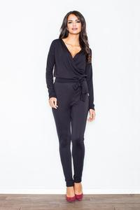 Black Stylish Ladies Belted Jumpsuit