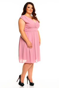 Pink Elegant Evening Romantic Party Dress PLUS SIZE