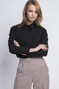 Black Long Sleeves Classic Ladies Shirt
