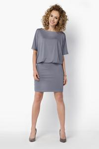 Grey Pencil Skirt and Kimono Sleeves Dress