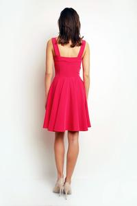 Pink Heart Shape Neckline Coctail Dress