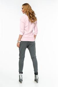 Pink Plain Classic Long Sleeved Blouse with Pocket