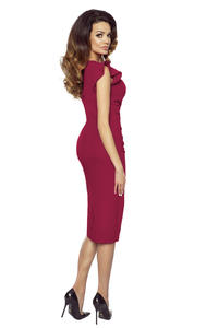 Dark Red Elegant Prom Dress with Frill