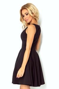 Black Sleeveless Coctail Dress with Light Pleats