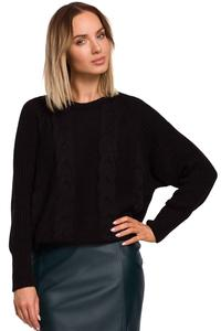 Classic Round Neck Sweater (Black)