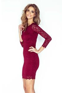 Maroon Bodycon Lace Dress