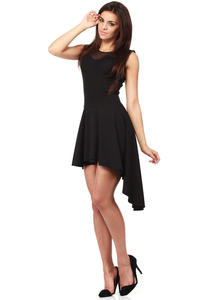 Black Flamenco Salsa Dancing Pleated Skirt