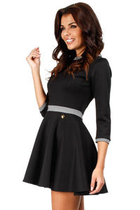 Black Retro Style A-line Mini Dress