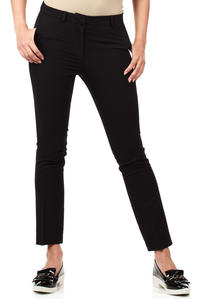 Black Trendy Mode Tapered Style Long Pants