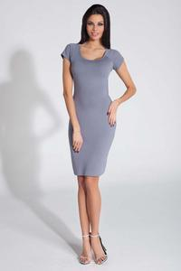 Grey Bodycon Open Back Dress