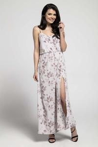 Floral Airy Maxi Dress on Thin Straps with a Slit