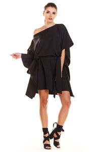 Black Kimono Dress with Belt
