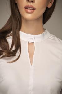 White Elegant Gorgeous Collar Blouse