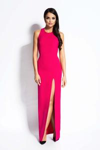 Fuchsia Elegant Maxi Evening Dress with Long Slit