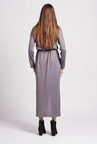 Grey Street Style Maxi Dress with Pocket