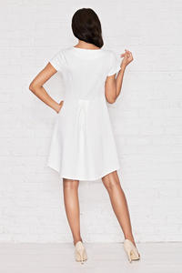 White Morning Break Low Front Hem Dress