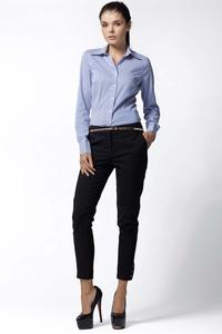 Blue Striped Work Shirt for Women
