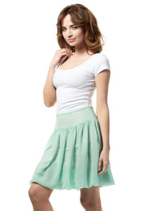 Mint Green Polka Dotted Cute Mini Skirt