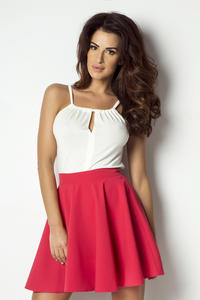 Red Light Pleats Mini Skirt